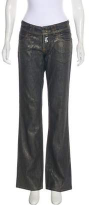 Galliano Mid-Rise Wide-Leg Jeans