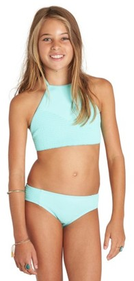 Girl's Billabong Smocked Two-Piece Swimsuit $49.95 thestylecure.com