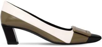 Roger Vivier 45mm Belle Vivier Mondrian Leather Pumps