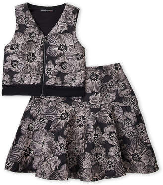 Miss Behave (Girls 7-16) Two-Piece Tessa Floral Party Top & Skirt Set