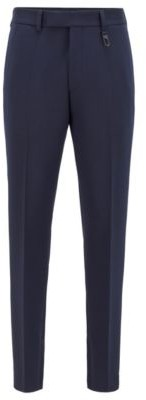 Fashion Show slim-fit pants with zippered hems