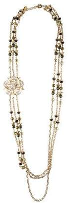 Chanel CC Pearl & Crystal Multistrand Necklace