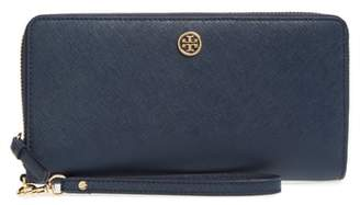 Tory Burch Robinson Leather Passport Continental Wallet