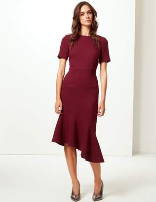 Marks and Spencer Short Sleeve Fishtail Bodycon Dress