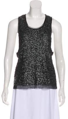 Gryphon Sequin Sleeveless Blouse