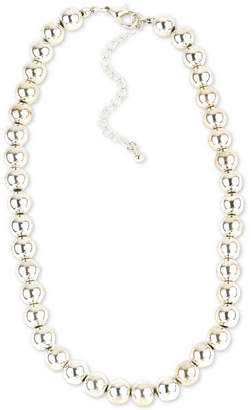 "Charter Club Silver-Tone Beaded Collar Necklace, 16-1/2"" + 3"" extender, Created for Macy's"