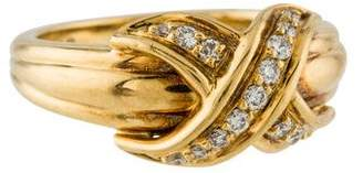 Tiffany & Co. 18K Diamond Signature X Ring