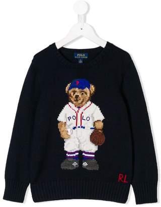 Ralph Lauren baseball bear intarsia jumper