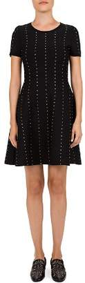 The Kooples Studded A-Line Mini Dress