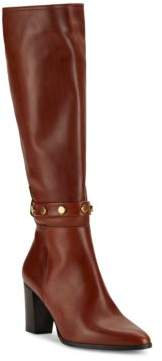 Studded Leather Knee-High Boots $395 thestylecure.com
