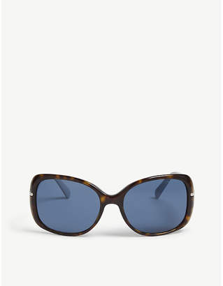 Prada Womens Brown Havana Print Pr08Os Rectangular Sunglasses 0d1b8d5ea9