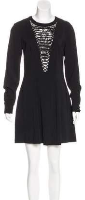 A.L.C. Lace-Trimmed A-Line Dress