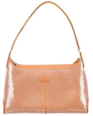 Tod's Leather Sequin Shoulder Bag