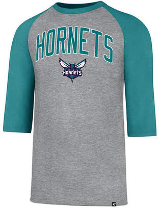 '47 Men's Charlotte Hornets Zone Raglan Three-Quarter Sleeve T-Shirt