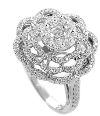 Diamond Select Cuts 14K 1.39 Ct. Tw. Floral Diamond Ring