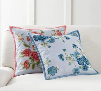 Pottery Barn Paola Embroidered Pillow Cover
