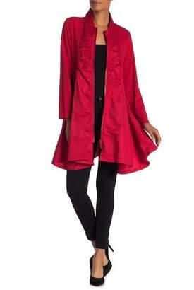 Joan Vass Mixed Media Zip Jacket