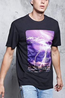 Forever 21 Poetic Lightning Graphic Tee