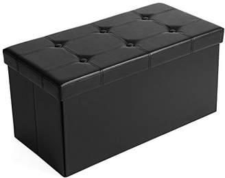 "SONGMICS 30""L Faux Leather Folding Storage Ottoman Bench"