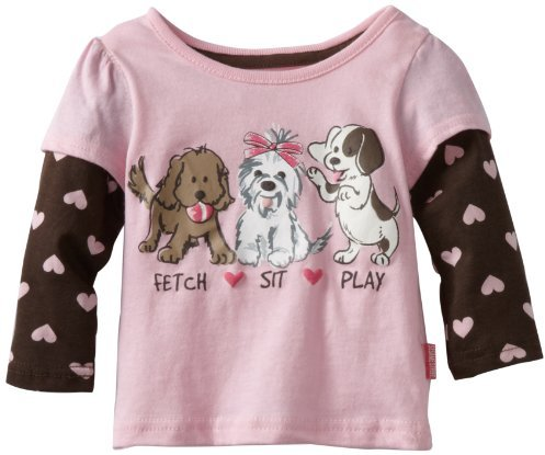Sesame Street Watch Me Grow! by Baby-girls Infant Fetch Sit Play Mock Twofer Pullover