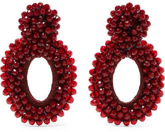 Bibi Marini - Primrose Bead And Silk Earrings - Claret