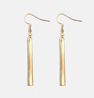 Avenue Gold Rectangle Block Earrings