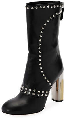 Alexander McQueen Studded Leather Zip Bootie