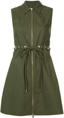 Derek Lam 10 Crosby Sleeveless Zip-Up Tunic With Grommet Detail