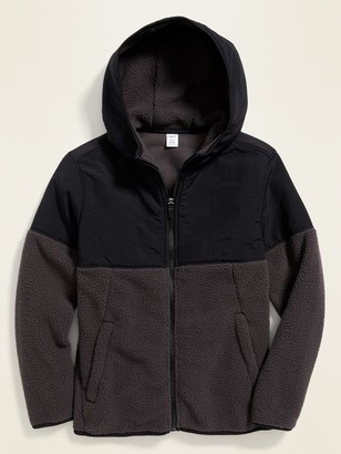 Old Navy Relaxed Nylon-Sherpa Hoodie for Boys