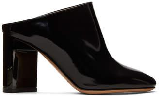 Maison Margiela Black Patent Turn Heel Mules