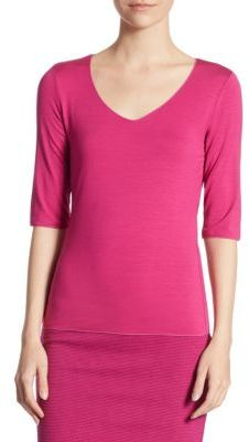 Armani Collezioni Elbow Sleeve Tee $345 thestylecure.com