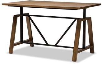 Foundry Select Ailith Metal and Distressed Wood Standing Desk