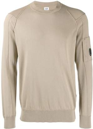 C.P. Company goggle lens patch sweater