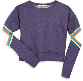 Vintage Havana Girls' Elbow-Cutout Terry Sweatshirt