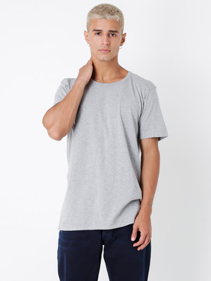 Denham Jeans Tubular Crew Short Sleeve T-Shirt in Grey