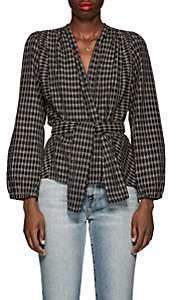 Ace&Jig Women's Brooke Checked & Striped Cotton Jacket - Black