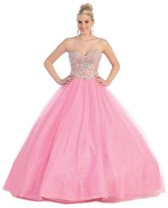 Asstd National Brand Strapless Sweetheart Ball Gown - Juniors