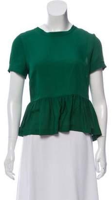 Veronica Beard Silk Short Sleeve Top