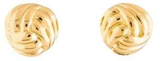 Christian Dior Button Clip-On Earrings