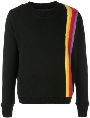The Elder Statesman cashmere Rainbow Sash sweater