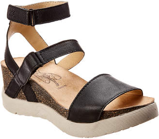 Fly London Wink Leather Wedge Sandal