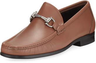 Salvatore Ferragamo Slip-On Calf Leather Dress Shoe, Brown