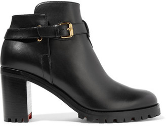 Christian Louboutin - Communa 70 Leather Ankle Boots - Black $995 thestylecure.com