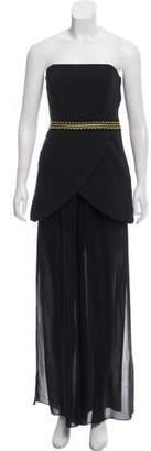 Sass & Bide Strapless Embellished Jumpsuit