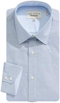 Ted Baker Endurance Slim-Fit Mini Check Cotton Dress Shirt