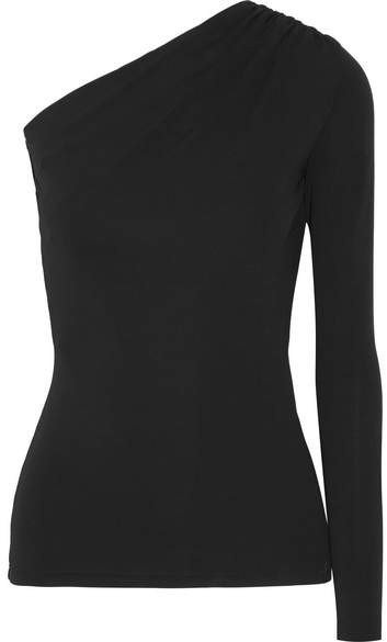 Michael Kors Collection - One-shoulder Stretch-jersey Top - Black