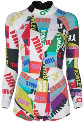 Cynthia Rowley graphic wetsuit