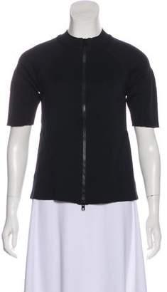 Marni Short Sleeve Zip-Up Top