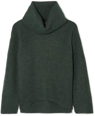 J.Crew Ana Ribbed-knit Turtleneck Sweater - Green