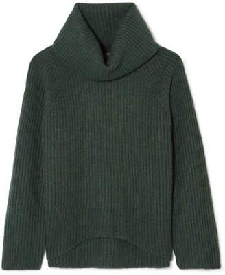 J.Crew Ana Ribbed-knit Turtleneck Sweater - Green